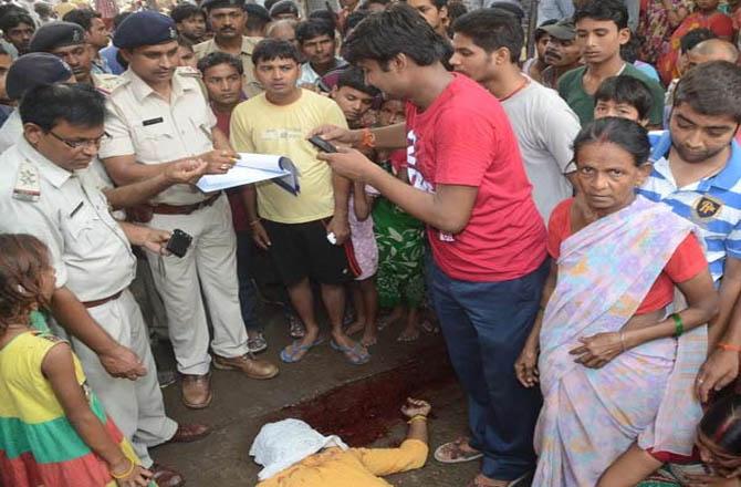 बीजेपी नेता अविनाश की बीच सड़क गोली मारकर हत्या