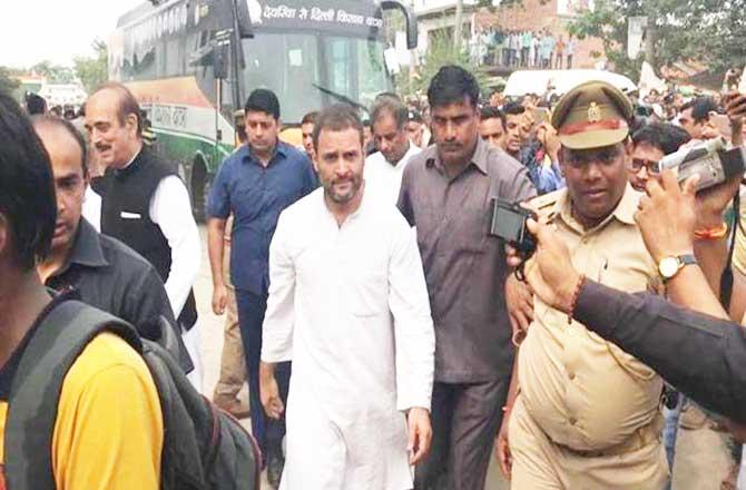 रोड शो के दौरान राहुल गांधी पर जूता उछालने वाला शख्सगिरफ्तार