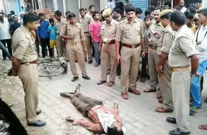 सुल्तानपुर में गोलियों की तड़तड़ाहट सरेआम हत्या , जांच में जुटी पुलिस