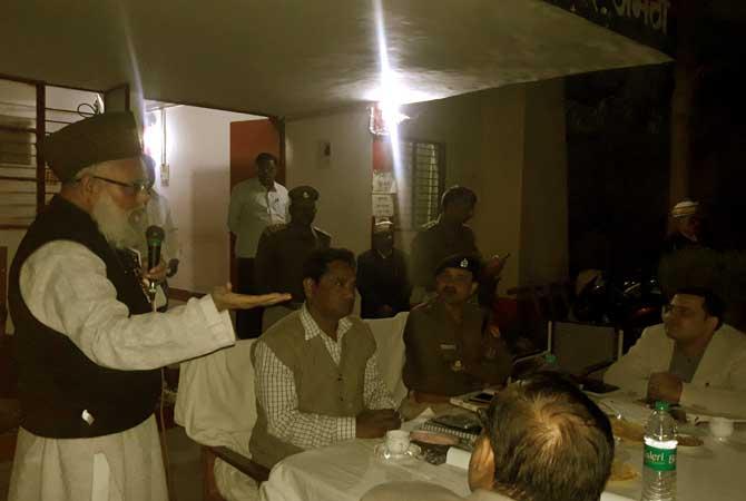 शांति-अमन के लिए पीस कमेटी की बैठक