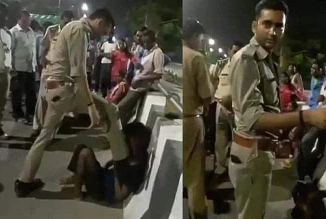 UP पुलिस का 'थर्ड डिग्री' टॉर्चर: ऑटो चालक को लात-घूसों से मारा-पीटा, सीने पर भी रखा पैर