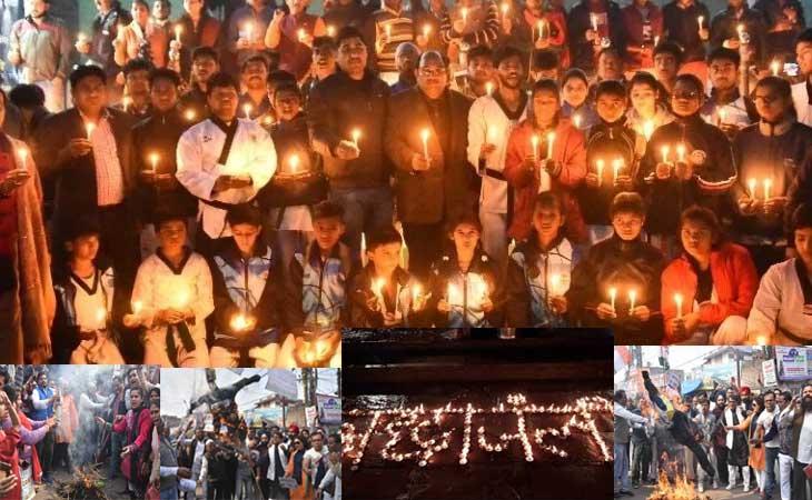 पूरे  देश ने दीश्रद्धांजलि,भारत मां के वीर सपूतों को नमआंखों ने कहा अलविदा