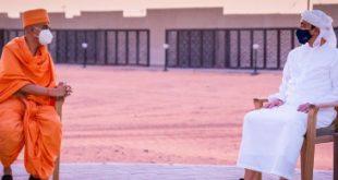यूएई के शेख अब्दुल्ला ने किया अबू धाबी में बन रहे हिंदू मंदिर का निरीक्षण