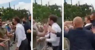 फ्रांस के राष्ट्रपति इमैनुएल मैक्रों को एक शख्स ने थप्पड़ मारा, दो लोग गिरफ्तार - bhaskarhindi.com